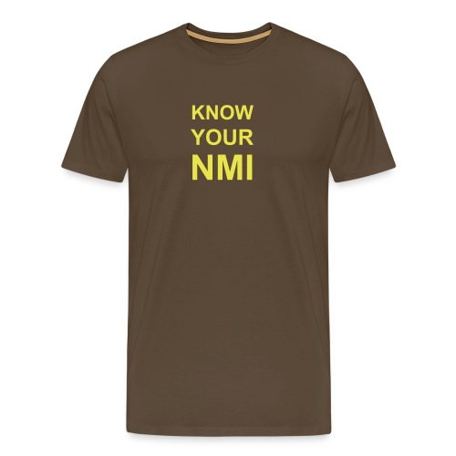 Know your NMI - Mannen Premium T-shirt