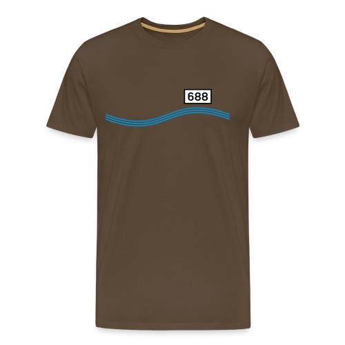 Rheinkilometer 688 - Männer Premium T-Shirt