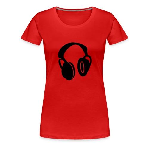 Headphones red - Women's Premium T-Shirt