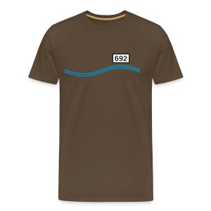 Rheinkilometer 692 - Männer Premium T-Shirt