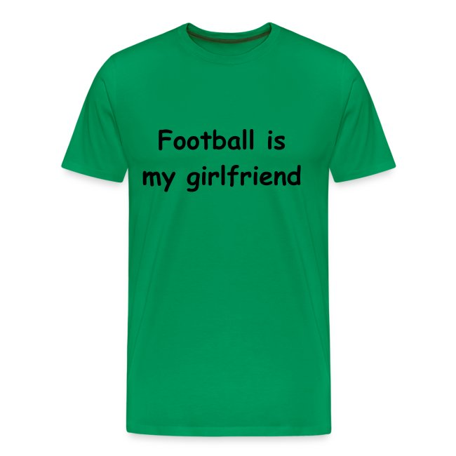 Männer Basis-T-Shirt Football is...