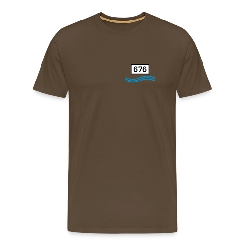 Rheinkilometer 676 - Männer Premium T-Shirt