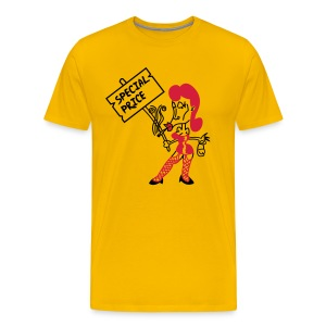 Whore 2c - red/yellow shirt - Männer Premium T-Shirt