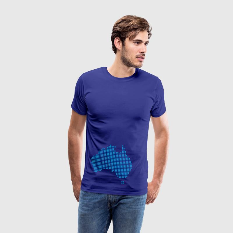 Royal blue Australia pixel map T-Shirts - Men's Premium T-Shirt