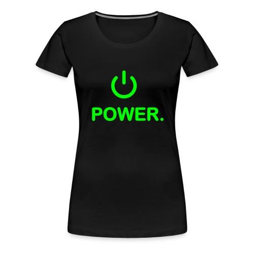 power femme noir/vert - T-shirt Premium Femme