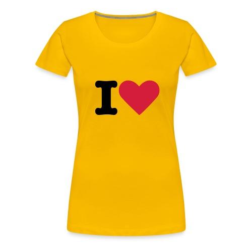 What du you love? - Premium-T-shirt dam