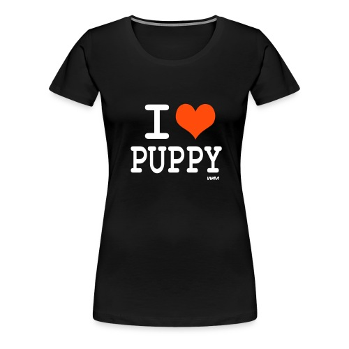 Womens Tee with 'I HEART PUPPY' Print - Women's Premium T-Shirt