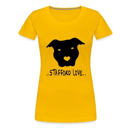 Womens Tee with Stafford Love Print - Women's Premium T-Shirt