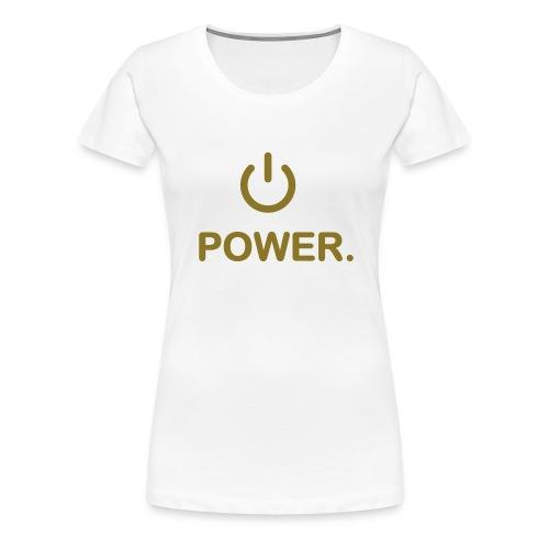 power femme blanc/or - T-shirt Premium Femme