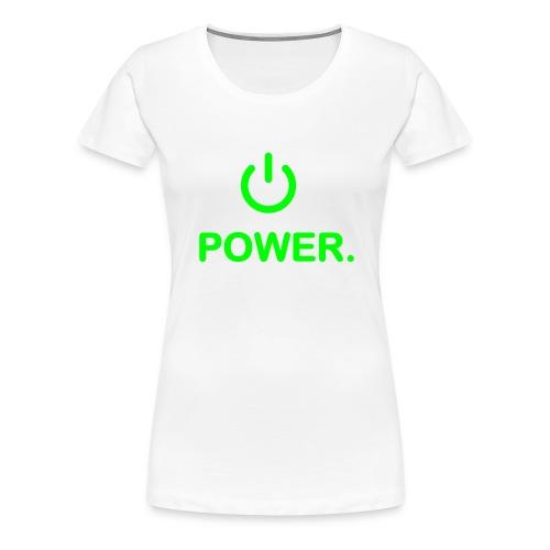 powerfemme blanc/vert - T-shirt Premium Femme