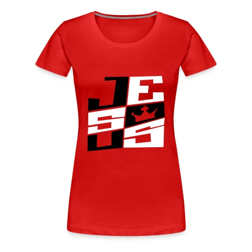 Jesus The King - Vrouwen Premium T-shirt