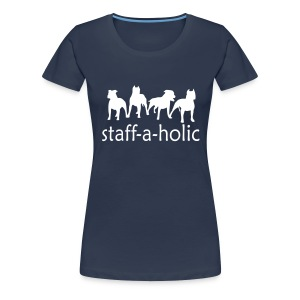 Womens Tee with 'Staff-a-holic' Print - Women's Premium T-Shirt