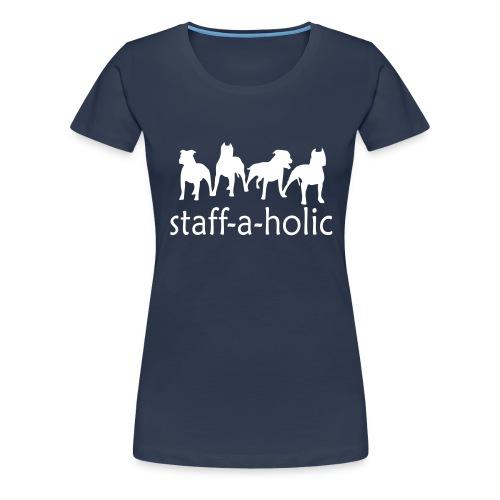 Womens Tee with 'Staff-a-holic' Print - Women's Premium T-Shirt