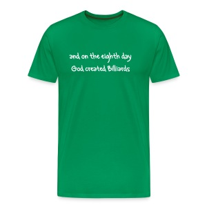 God loves Billiards - Men's Premium T-Shirt