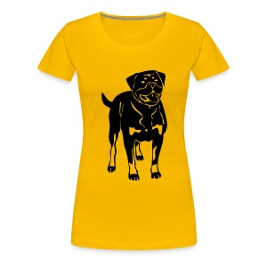 Womens Tee with Rotty Print - Women's Premium T-Shirt
