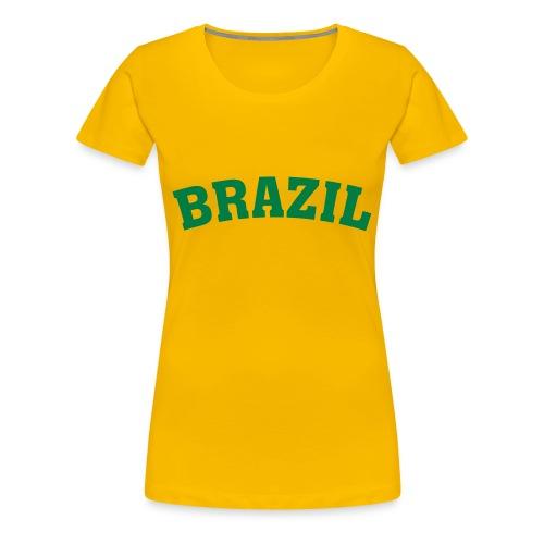 Brazil t-skjorte damer - Premium T-skjorte for kvinner