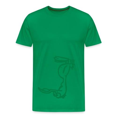Silly Duck Kopfstand - green - Männer Premium T-Shirt