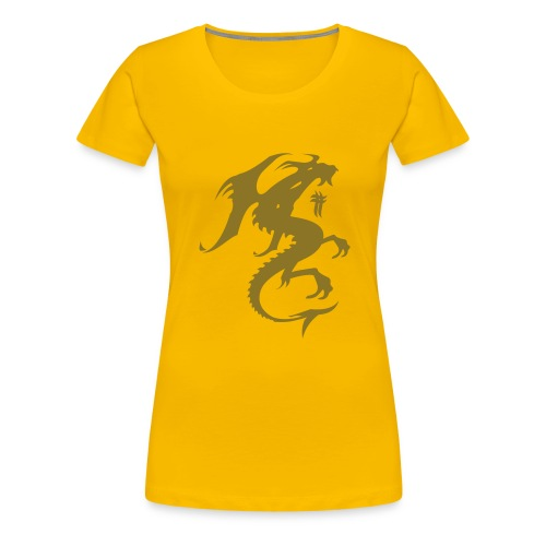 Dragon Gold - Frauen Premium T-Shirt