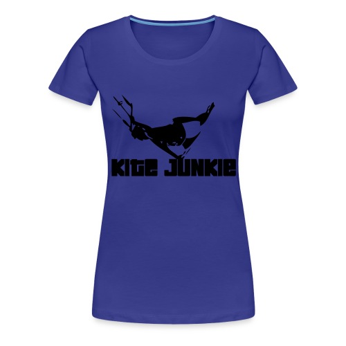 Girly Shirt Kite Junkie blau - Frauen Premium T-Shirt