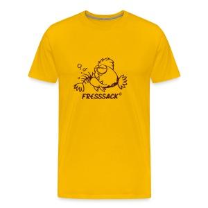 Männer-T-Shirt Fressack gelb - Männer Premium T-Shirt