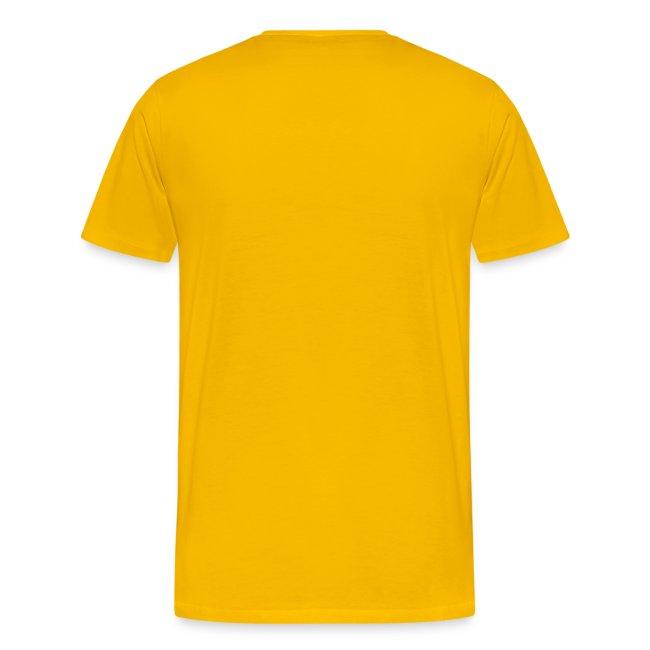 """Männer-T-Shirt """"Fressack"""" gelb"""