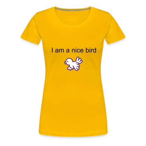 bird girl - Premium T-skjorte for kvinner