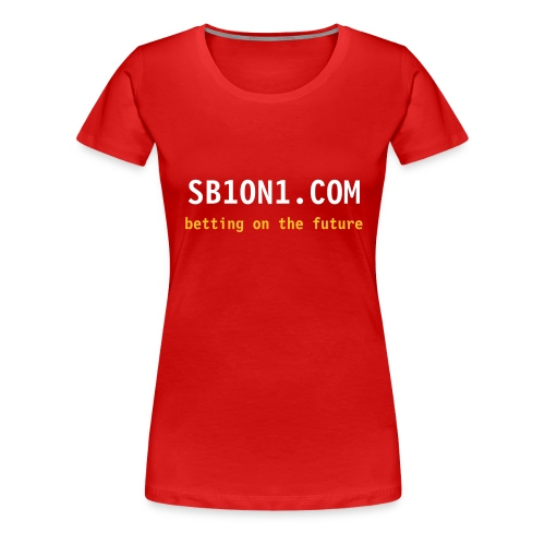 Classic Ladies White and Orange on RED - Women's Premium T-Shirt