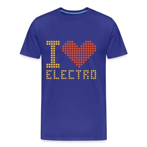I LOVE ELECTRO Mande-Tshirt - Herre premium T-shirt