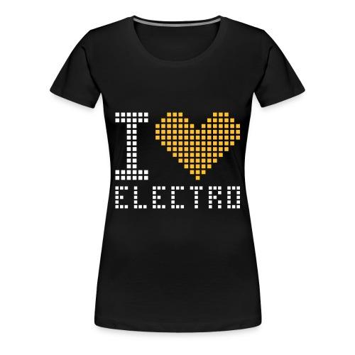 I LOVE ELECTRO Dame-Tshirt (Selvlysende) - Dame premium T-shirt