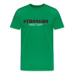 Strongbo Green Men's Slim Fit T-shirt - Men's Premium T-Shirt