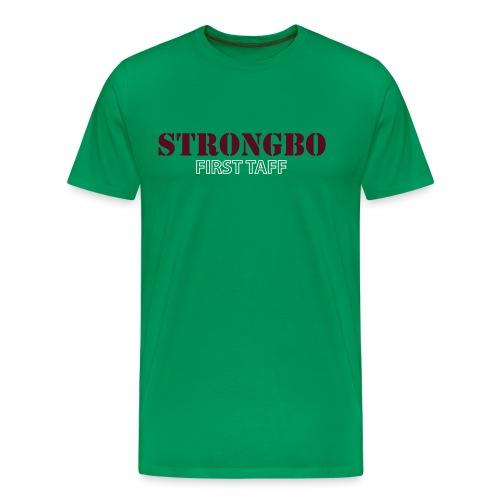 Strongbo Green Men's Slim Fit T-shirt - Men's Premium T-Shirt
