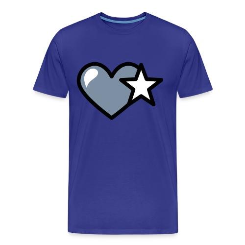 T-shirt love stars - Maglietta Premium da uomo