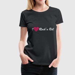 Schwarz i love rock´n roll Girlie - Frauen Premium T-Shirt
