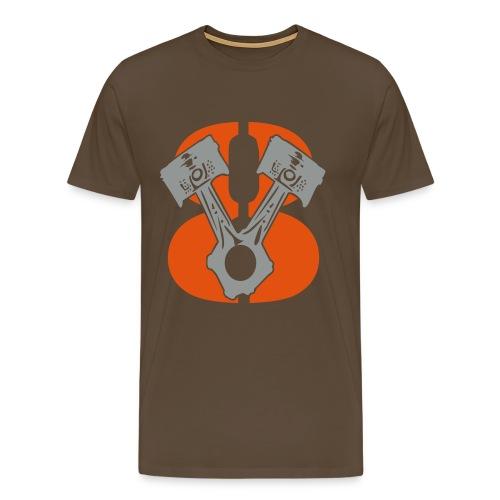 Kolben im V8 Stil  - Männer Premium T-Shirt