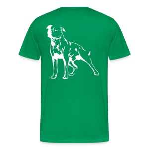 Green/White Men's D.O.T.L Classic T-shirt - Men's Premium T-Shirt