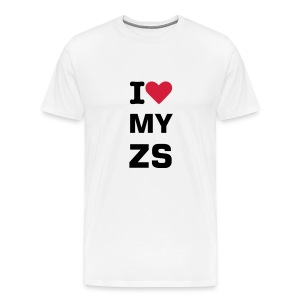 I love my ZS T-Shirt (white) - Men's Premium T-Shirt