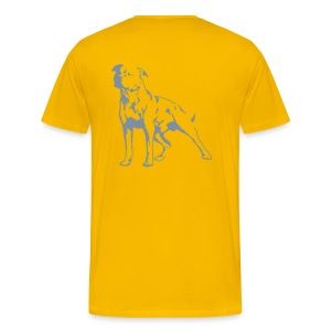 Summer Yellow/Silver Men's D.O.T.L Classic T-shirt - Men's Premium T-Shirt