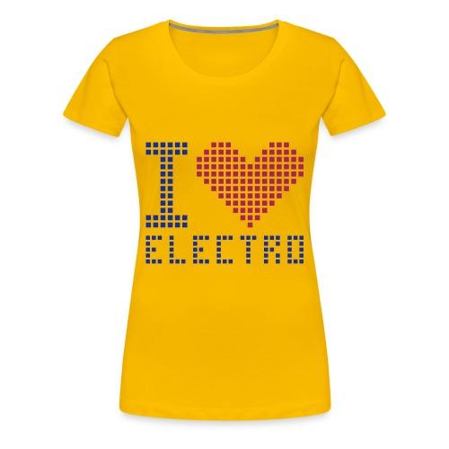 I LOVE ELECTRO Dame-Tshirt - Dame premium T-shirt