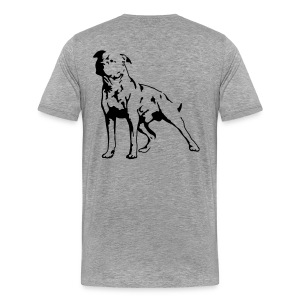 Grey/Black Men's D.O.T.L Classic T-shirt - Men's Premium T-Shirt