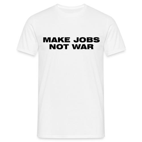 Jobs not War weiß Herren - Männer T-Shirt