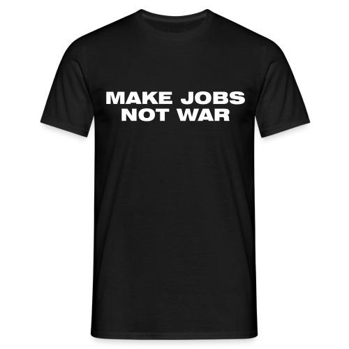 Jobs not War schwarz Herren - Männer T-Shirt
