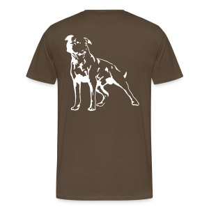 Brown/White Men's D.O.T.L Classic T-shirt - Men's Premium T-Shirt