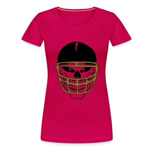 Yorkshire Rams Ladies Skull T-Shirt - Women's Premium T-Shirt