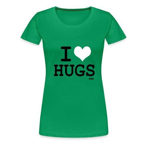 womens classic i love hugs - Women's Premium T-Shirt
