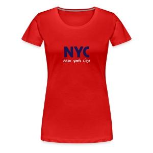Girlie-Shirt NYC rot - Frauen Premium T-Shirt