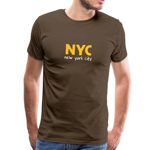 T-Shirt NYC braun - Männer Premium T-Shirt