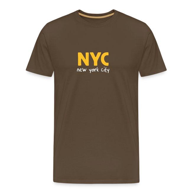 "T-Shirt ""NYC"" braun"""