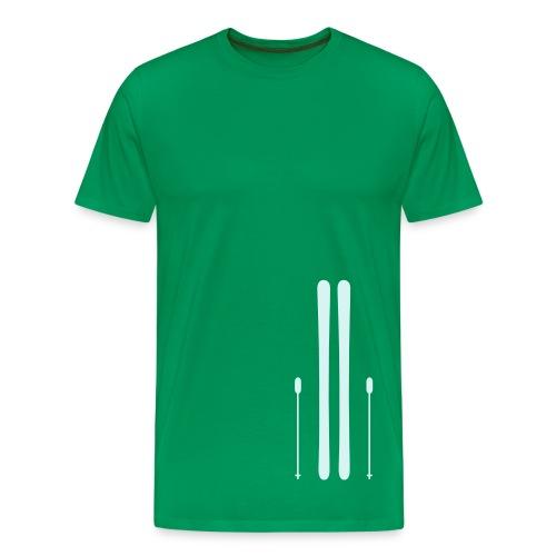 Ski green - Maglietta Premium da uomo