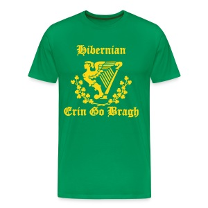 Hibernian + Harp + Erin Go Bragh (You choose the colour of this Tee Shirt) - Men's Premium T-Shirt