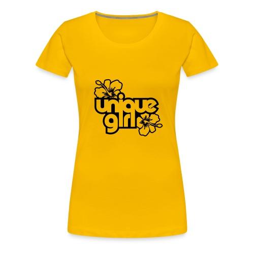 unique girl plain pink - Women's Premium T-Shirt